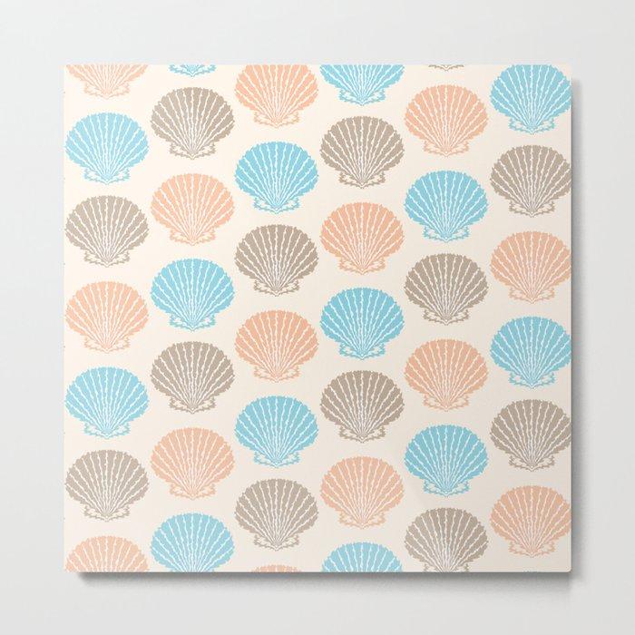 Pastel Marine Pattern 06 Metal Print