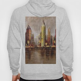 Skycrapers With Water View Hoody