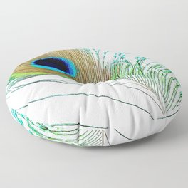 Peacock - Peacock Feather - Peacock Tail Feather Floor Pillow