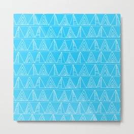 Triangles- Simple Triangle Pattern for hot summer days - Mix & Match Metal Print
