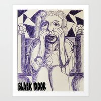 prince Art Prints featuring Prince by black door