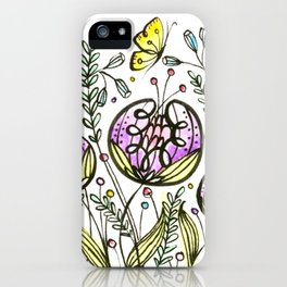 Flowers by Doodling iPhone Case