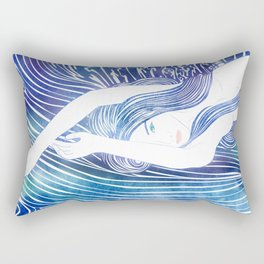 Water Nymph LVIII Rectangular Pillow