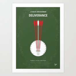 No020 My Deliverance minimal movie poster Art Print