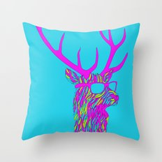 Party deer Throw Pillow