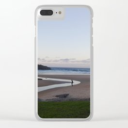 Walking alone Clear iPhone Case