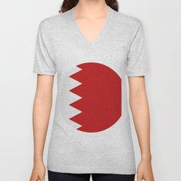 bahrain flag Unisex V-Neck