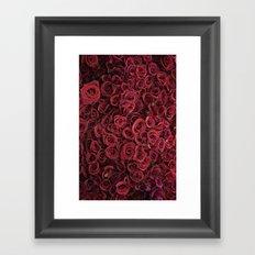 Flower Market 3 - Red Roses Framed Art Print
