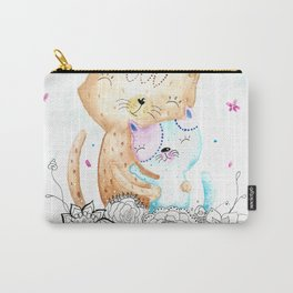 Watercolor Cats Illustration Carry-All Pouch