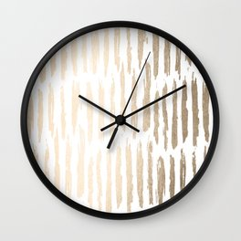 White Gold Sands Vertical Dash Wall Clock