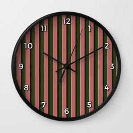 Pink Roses in Anzures 5  Stripes 2V Wall Clock