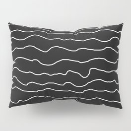 Black with White Squiggly Lines Pillow Sham