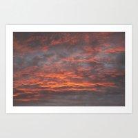 Sunset in Moruya. Art Print