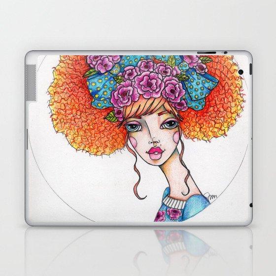 JennyMannoArt Colored Illustration/Jane Laptop & iPad Skin