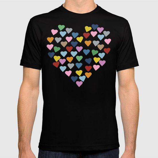 Hearts #3 Black T-shirt