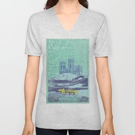 The Lands Where the Reindeer Graze Unisex V-Neck