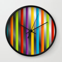 Colorful and shiny stripes on metal Wall Clock