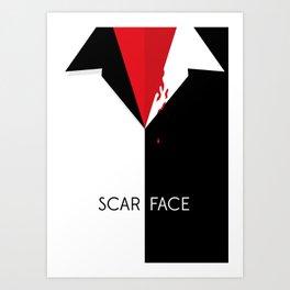 Scarface Minimalist Movie Poster Art Print