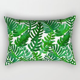 Round Palm Green Rectangular Pillow
