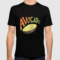 Avocado LARGE Mens Fitted Tee Black