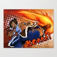 the legend of korra Canvas Prints featuring Korra! by Vadsana