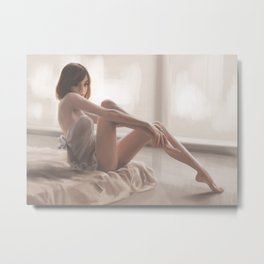 A girl in the morning Metal Print