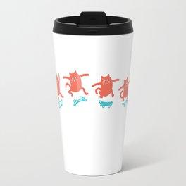 Kick Flip Cat Travel Mug