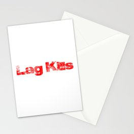 Lag Kills Red Stationery Cards