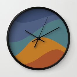 Abstract Color Waves - Vibrant Rainbow Wall Clock