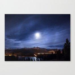 Moon's halo Canvas Print