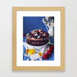 Chocolate Berry Cake Framed Art Print