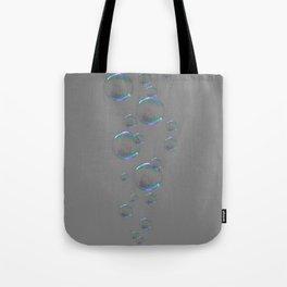 IRIDESCENT SOAP BUBBLES GREY COLOR DESIGN Tote Bag