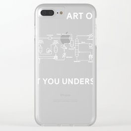 Funny Chemical Engineering Clear iPhone Case