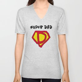 Super Hero Dad Unisex V-Neck