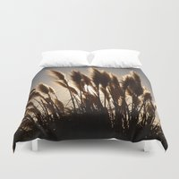 oakland Duvet Covers featuring Feathers by Olivier P.