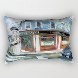 Aidan's of Newport on a wet spring afternoon, 1999 Rectangular Pillow