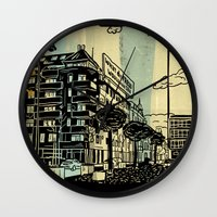 freud Wall Clocks featuring Freud II. by Zsolt Vidak