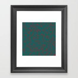 green darkness red spots Framed Art Print