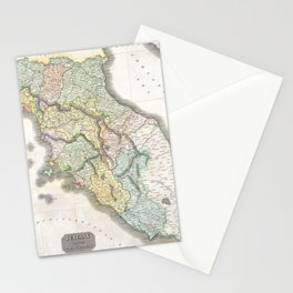 Vintage Map of Tuscany Italy (1814) Stationery Cards
