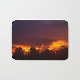 Sunset After The Storm Bath Mat