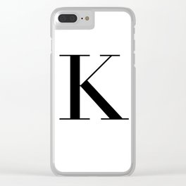 Letter K Clear iPhone Case