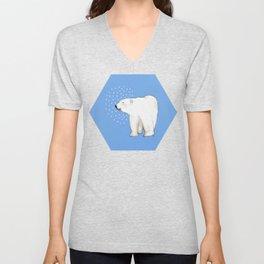 Polar Bear #8 Unisex V-Neck
