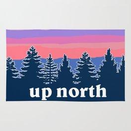 up north, pink hues Rug