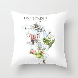Linnéstaden, Göteborg, Sweden Throw Pillow