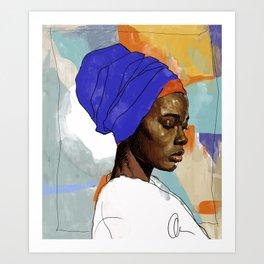 Black Woman Wrap Art Print