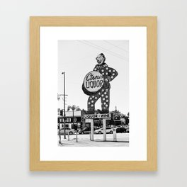 Circus Liquor Framed Art Print