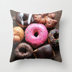 Mmmm Donuts Throw Pillow