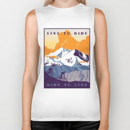 live to ride, ride to live retro cycling poster Biker Tank