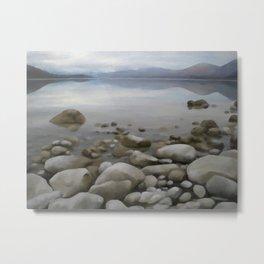 Stone on stone, lake Metal Print
