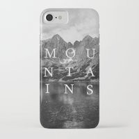 the mountains are calling iPhone & iPod Cases featuring The Mountains Are Calling by okalova